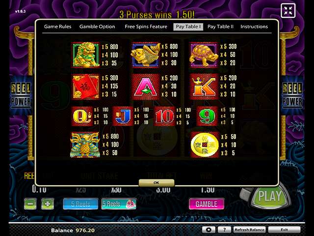 5 Dragons Slot Game Features