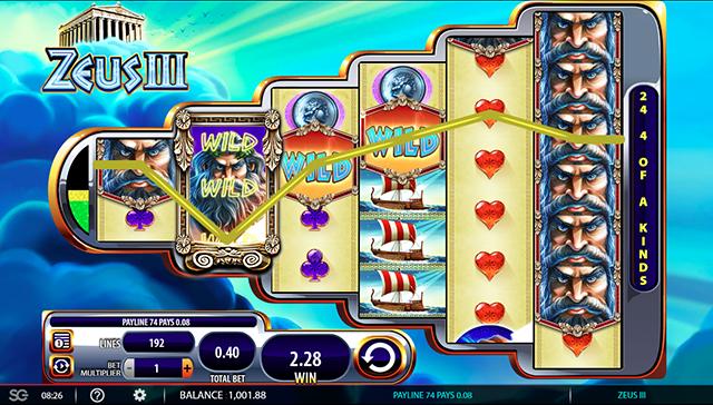 Zeus 3 Slot Wild Bonus
