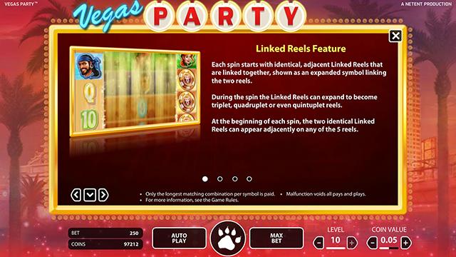 Vegas Party Slot Bonus Features