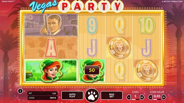 Vegas Party Slot Game NetEnt
